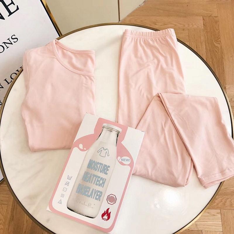 日本打底美肤牛奶衣保暖内衣套装