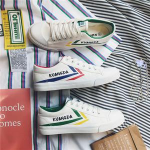文艺范夏季街拍韩版青少年帆布鞋低帮休闲小白鞋XZ608-1-6702
