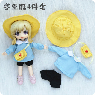 taobao agent ob11 baby clothes jasmine GSC clay can wear beautiful knot piggy baby clothes four-point kindergarten school uniform suit in stock