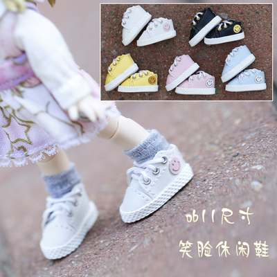 taobao agent newest! ob11 baby clothes shoes GSC clay YMY body9 body can wear casual smiley shoes in stock