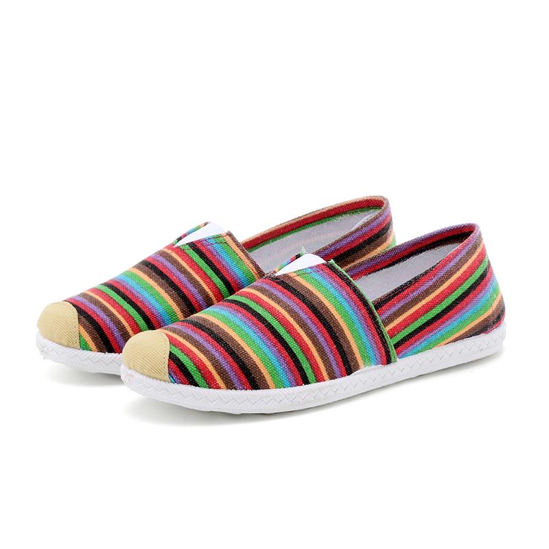老北京女士低帮一脚蹬布鞋