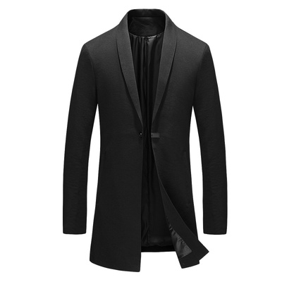 2018 mới mùa xuân và mùa thu của nam giới quần áo trẻ và trung niên người đàn ông Anh của chiếc áo khoác dài áo giản dị trench coat Áo gió