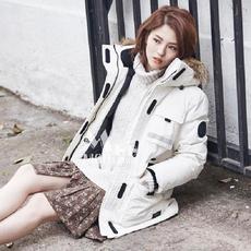 实拍真毛领韩国户外防寒服羽绒服女加厚保暖情侣滑雪服款棉衣