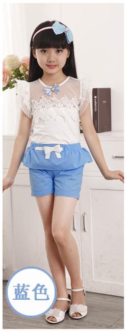 1024夏装2017新款女童韩版套装儿童装小中童夏季无袖短裤两件套潮
