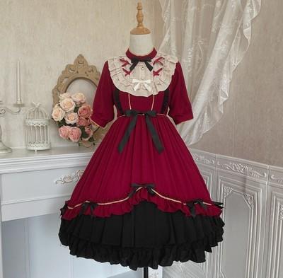 taobao agent Original genuine summer Lolita girl Lilian Lolita short-sleeved Japanese lolita high-waist short-sleeved dress