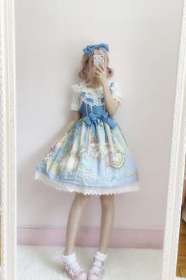 taobao agent Lolita skirt Japanese soft girl court ball cat heavy industry Lolita gorgeous retro JSK suspender dress