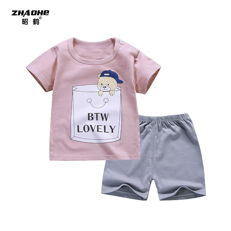 婴儿纯棉短袖短裤宝全棉T恤-优惠后100元包邮