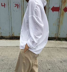 现货~早春推荐! 韩国 chic #1875 简约纯色长袖衬衫女