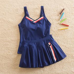 Cô gái đồ bơi chia Công Chúa váy mới phong cách cậu bé lớn 12-15 tuổi sinh viên đồ bơi cô gái boxer swimsuit 9
