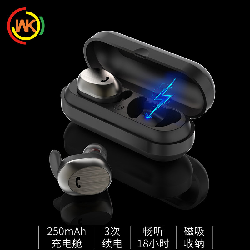 WK无线蓝牙耳机双耳真无线迷你隐形分离式运动TWS立体声耳机BD800