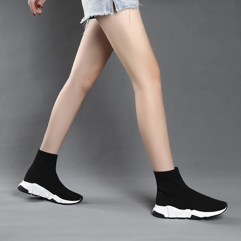 2018 mới vớ đàn hồi giày nữ mùa hè tăng thoáng khí Hàn Quốc phiên bản của ulzzang đáy dày thường vài đôi giày cao
