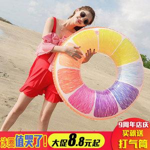 Flamingo inflatable net red phao cứu sinh bơi vòng người lớn dày dành cho người lớn nam giới và phụ nữ bơi vòng bơi trẻ em lớn chuyên nghiệp