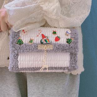 Новый год подарок ручной мешки diy материалы ручной работы handwoven женщина друг мультики милый плечо посланник