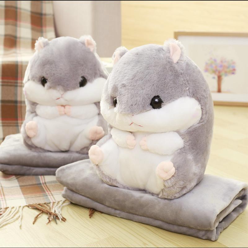 仓鼠抱枕被子