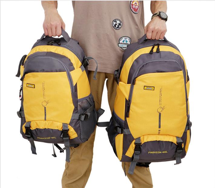 New ba lô ngoài trời 45L đi bộ đường dài du lịch ba lô nam giới và phụ nữ không thấm nước công suất lớn túi du lịch leo núi túi 25L