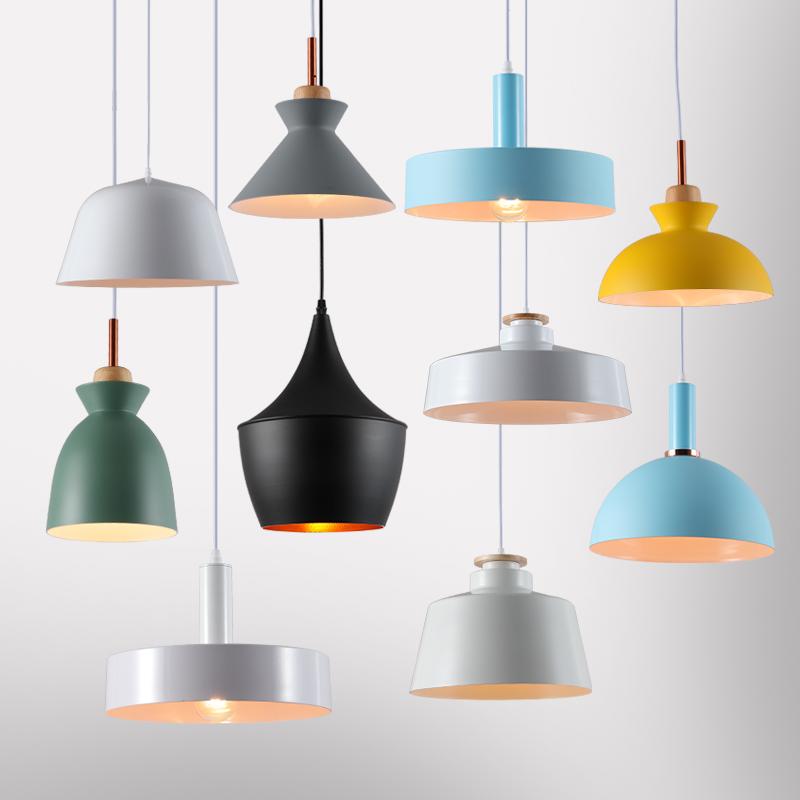 北欧餐厅吊灯客厅吧台创意床头欧式单头小吊灯现代简约马卡龙吊灯