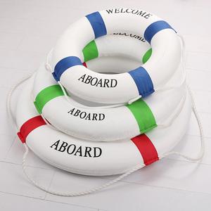 Màu rắn phong cách Địa Trung Hải cửa hàng tường vòng tròn trang trí trẻ em người lớn bọt phao cứu sinh bơi nổi vòng tròn