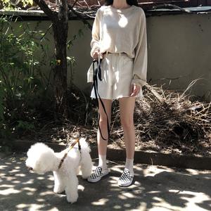 F và Z trong blogger được đề nghị! Tính khí mùa thu sớm với màu sắc lười biếng dài tay áo len mỏng cổ tròn