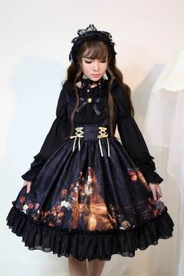 taobao agent Soufflesong exclusive design【Song of Time】lolita normal waist drawstring dress jsk out of stock