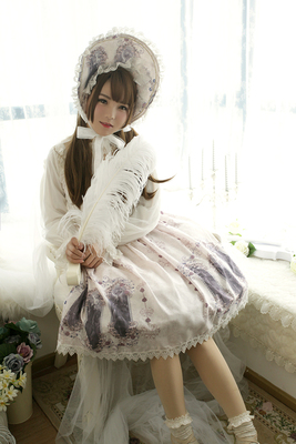 taobao agent Agent Rose Valley Exclusive Design【Nightmare spell】Double strap lolita half skirt sk out of stock