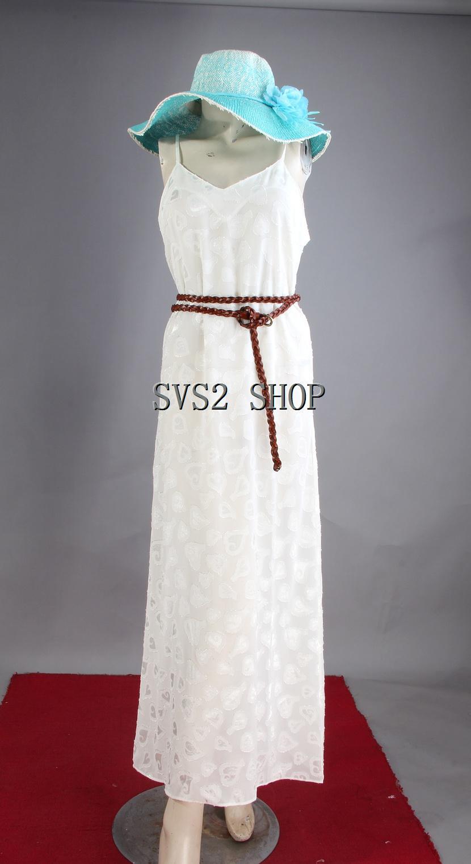 Giá 2018 kỳ nghỉ bãi biển siêu dài đáy váy trắng sling quan điểm travel home nightdress váy dài váy
