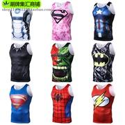 Marvel Avengers Superman Spider-Man Không Tay T-Shirt Nam Giới và Phụ Nữ Nhanh Chóng làm khô Tập Thể Dục Chạy Khan Vest Mùa Hè