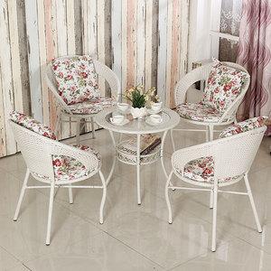 Ngoài trời bàn ghế ban công giải trí ghế wicker bàn cà phê ba mảnh vườn ghế vườn mây đồ nội thất sáng tạo hiện đại nhỏ gọn