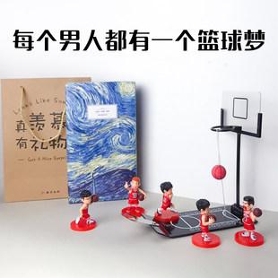 Встряска звук чистый красный рабочий стол творческий декомпрессия мини стол на корзина литье мяч корзина машинально корзина машинально мяч день рождения подарок школьник дружок