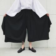 Thiết kế ban đầu tối loạt đơn giản vài mô hình siêu rộng chân bùng quần của người đàn ông thanh lịch váy quần chín điểm quần âu