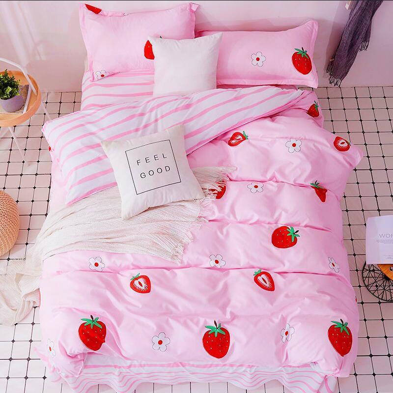 纯棉被罩被子四件套2米x2米3被套床上用品四被套单件件套磨毛被套