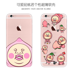 Apple 6s vỏ điện thoại di động 8 dễ thương 5S rắm đào Tháng Sáu iPhone6 phim hoạt hình cộng với nữ 7 Nhật Bản Han SE triều X silicone 6 p