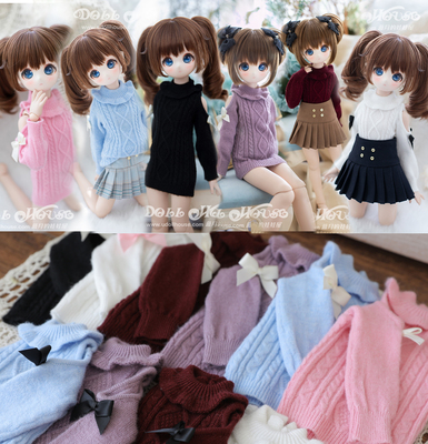 taobao agent [Blue Moon's Doll House] 4 points BJD/MSD/MDD/Xiong Mei/Tumei/Giant Baby Strapless Sweater Pleated Skirt
