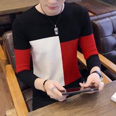 有质检报告2018秋季男士圆领长袖针织衫韩版男装毛衣潮流线衣336#