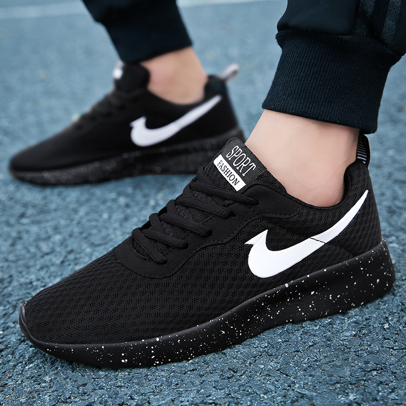 男士系带新款2020夏季男鞋休闲纯色百搭透气布鞋潮流青年板鞋男鞋