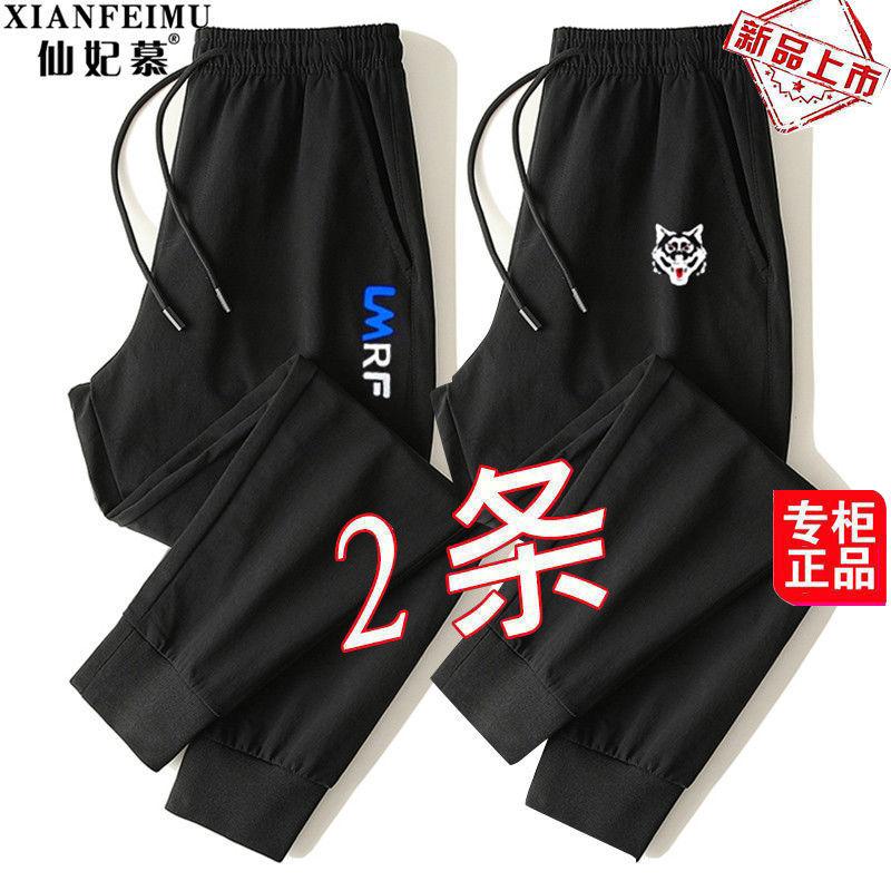 【两条】春秋新款加肥加大码小脚束脚裤