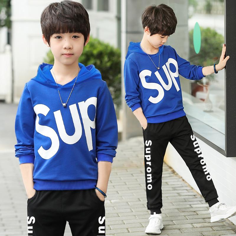 儿童套装春装新款韩版潮中大童运动装
