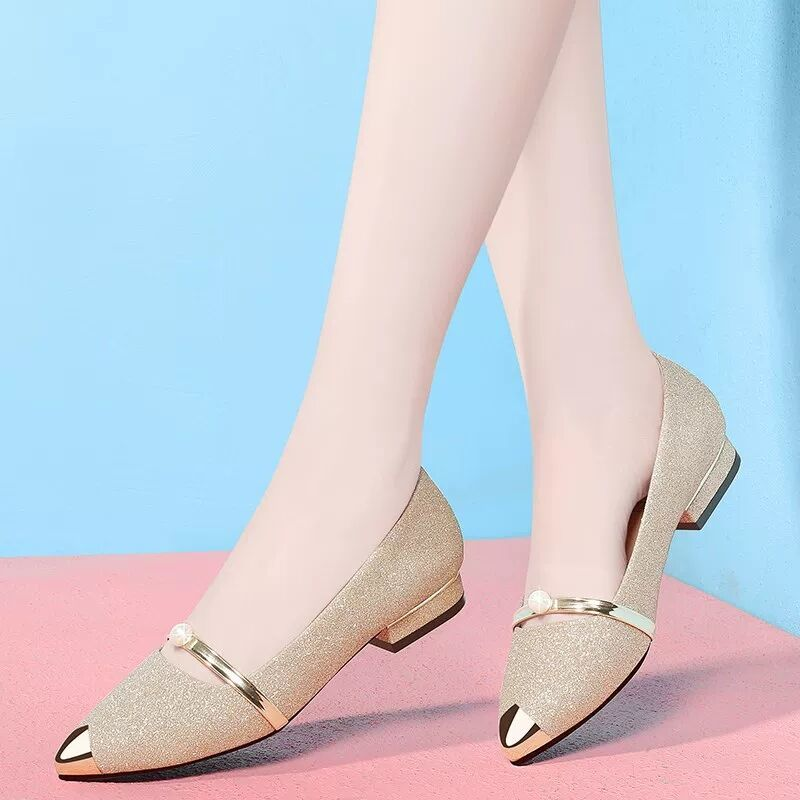 2020春夏季新款尖頭平底春款平跟舒適孕婦春季百搭瓢鞋單鞋女鞋子
