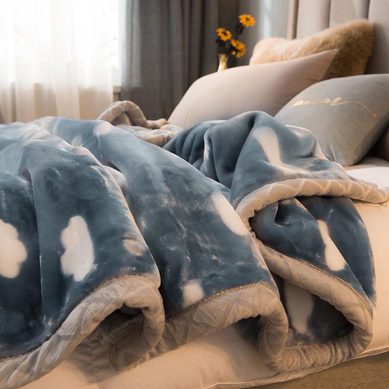 双层拉舍尔毛毯单人双人毯子保暖学生被子