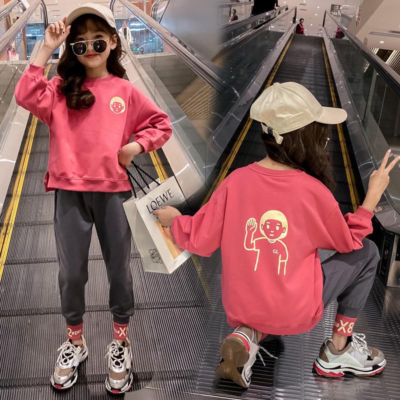 女童春季洋气时髦休闲两件套潮