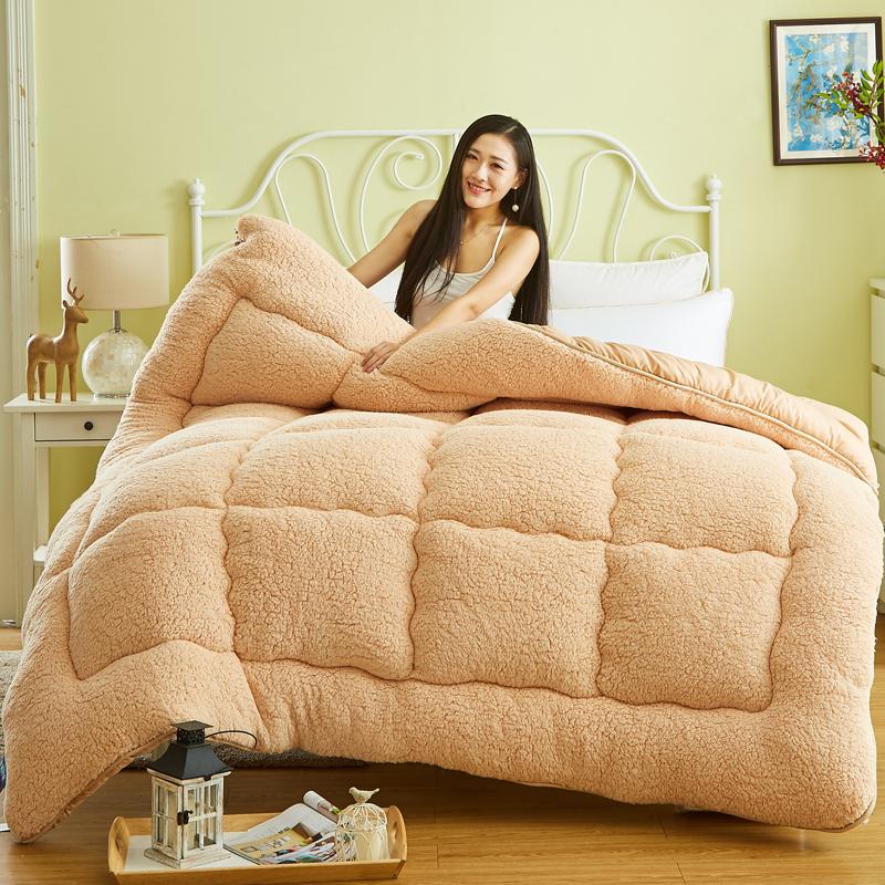 羊羔绒被子冬季被芯加厚保暖棉被