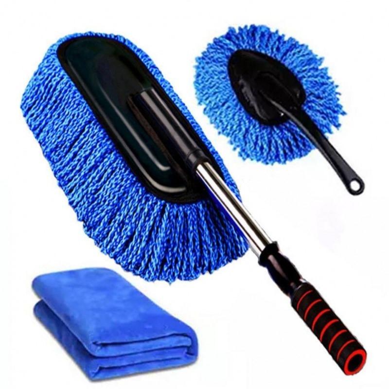 擦车拖把伸缩洗车蜡拖除尘车掸海绵汽车清洁工具用品套装擦车毛