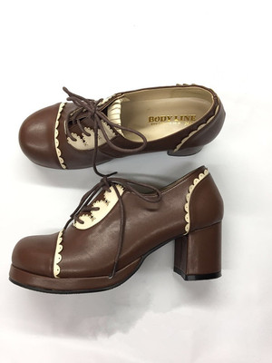 taobao agent Genuine leather Japanese BL genuine round head maid performance shoes Lolita soft sister Lolita COS cowhide shoes