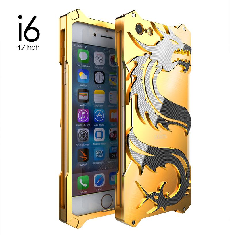SIMON Dragon Aerospace Aluminum Alloy Shockproof Armor Metal Case Cover for Apple iPhone 7 Plus & iPhone 7 & iPhone 6S Plus/6 Plus & iPhone 6S/6