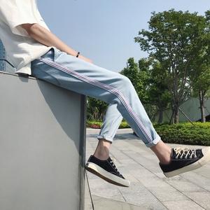 織帶九分褲 牛仔褲 港風店主原宿休閑日系男 NK1008