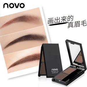 Novo chính hãng hai màu lông mày bột không thấm nước và mồ hôi- bằng chứng không- đánh dấu lâu dài không nở lông mày bút chì nhuộm lông mày kem từ lông mày