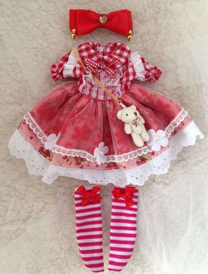 taobao agent 【2 sets of free shipping in stock】bjd doll clothes dress 1/6 points 4 points small cloth dress giant baby holala