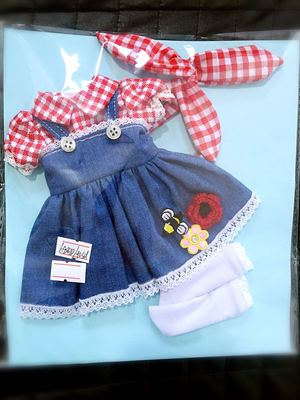 taobao agent 2 sets of free shipping】bjd holala1/64 points Salon doll clothes dress giant baby baby cloth baby girl little girl