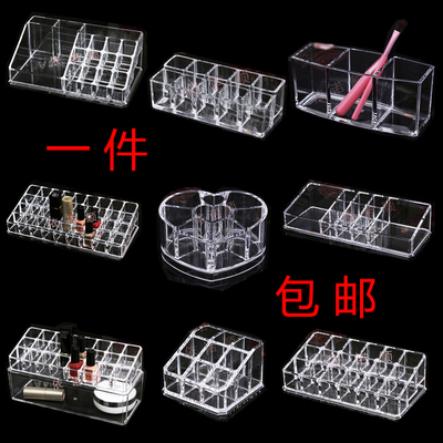 Transparent Desktop Lipstick Nail Polish Cosmetics Acrylic Storage Box
