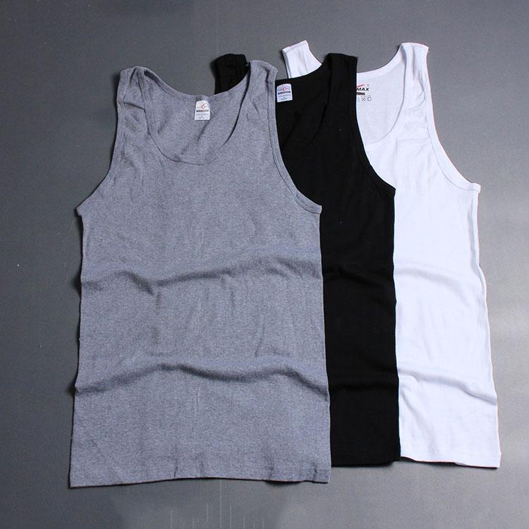 Cotton đàn hồi cao của nam giới mồ hôi vest Slim thể dục mùa hè thể thao giản dị cơ bắp của nam giới làm việc áo sơ mi