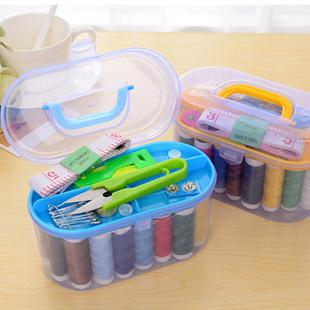【天天特价】居家百宝箱万能便携式针线盒套装家用型缝补工具